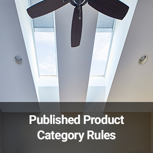 Published Product Category Rules